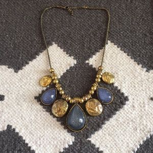 Statement Necklace Gold & Purple